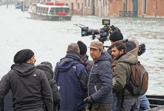 """Venezia, 11/01/16 - Set film """"the joung pope"""" di Paolo Sorrentino - i primi set a Venezia - paolo sorrentino ©Marco Sabadin/Vision - paolo sorrentino - fotografo: Marco Sabadin/Vision"""